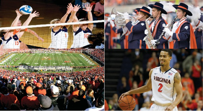 Volleyball, Basketball, Football, and Marching Band at UVa