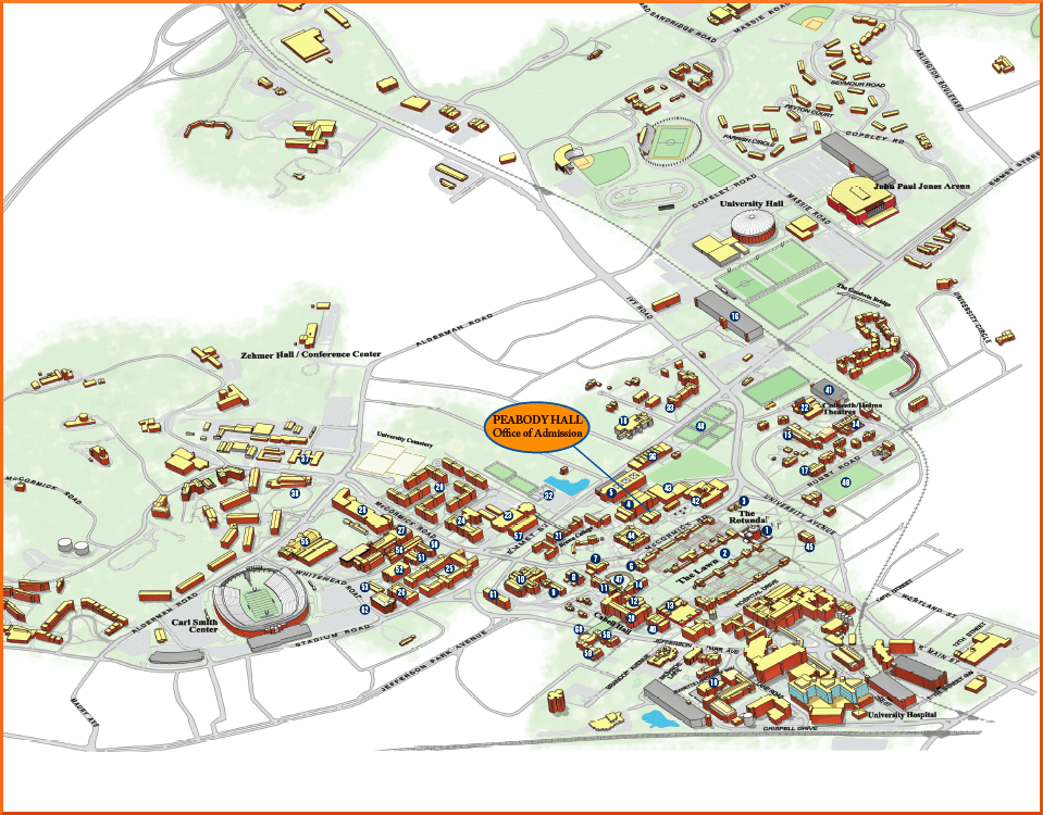 UVa Grounds Map