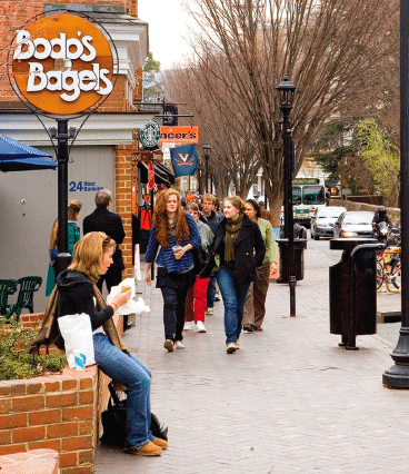 Bodo's Bagels in downtown Charlottesville